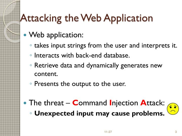 Attacking the Web Application