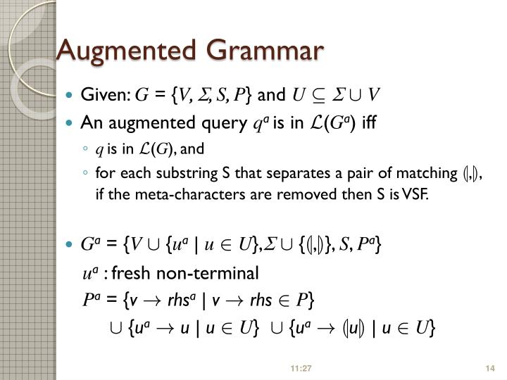 Augmented Grammar