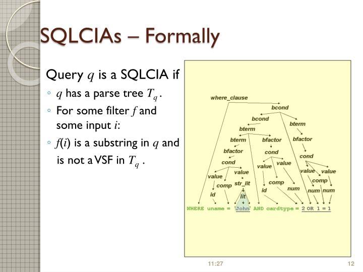SQLCIAs – Formally