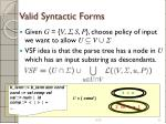 valid syntactic forms