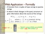 web application formally