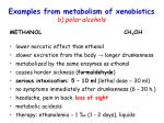 examples from metabolism of xenobiotics b polar alcohols1