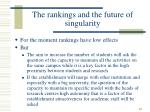 the rankings and the future of singularity