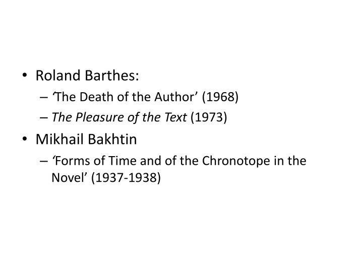Roland Barthes: