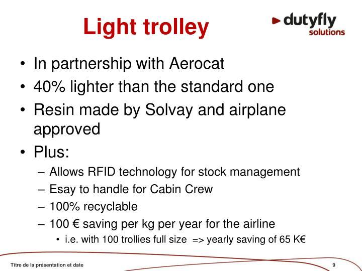 Light trolley