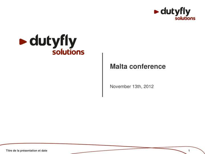 Malta conference
