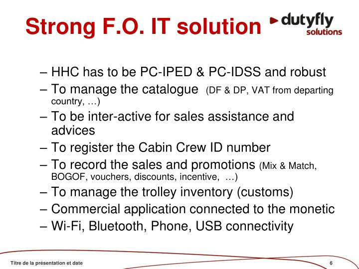 Strong F.O. IT solution