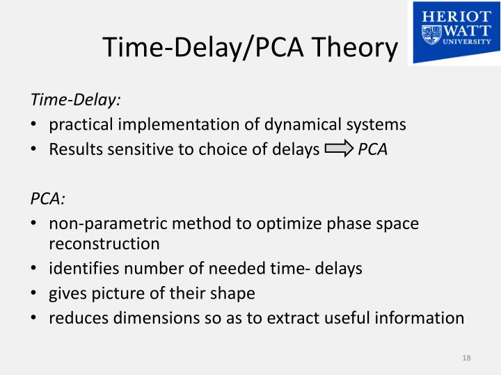 Time-Delay/PCA Theory