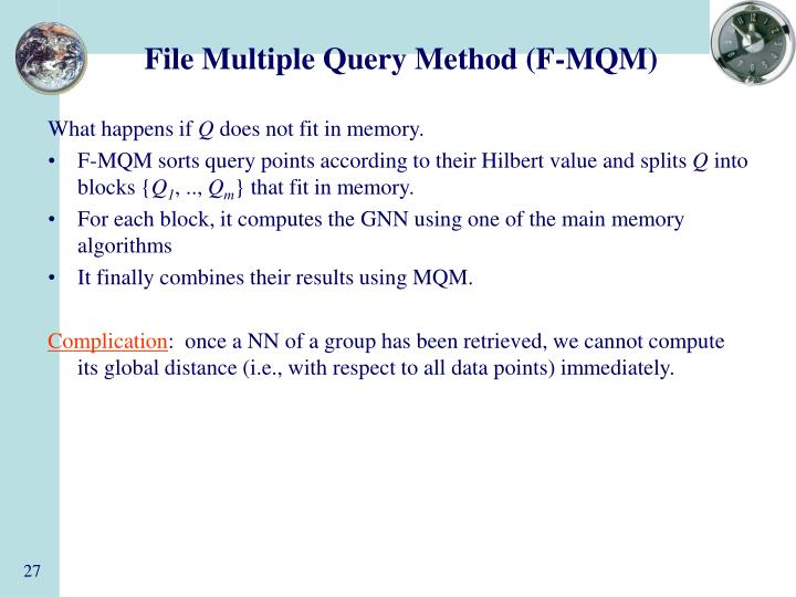 File Multiple Query Method (F-MQM)