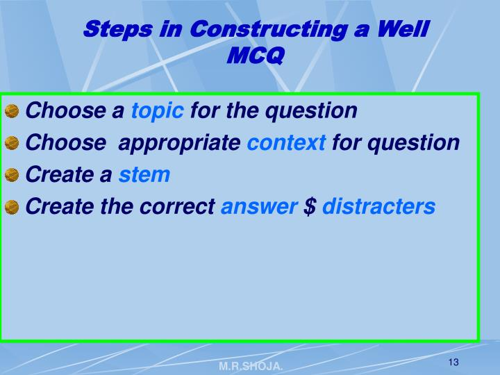 Steps in Constructing a Well