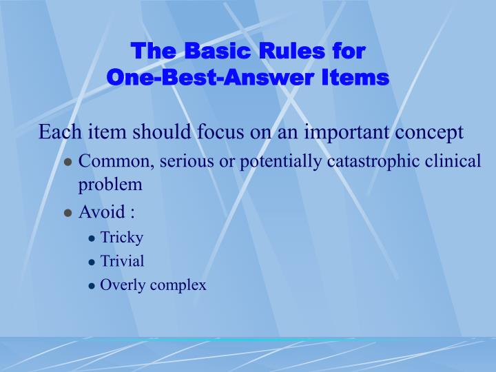 The Basic Rules for