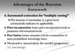 advantage s of the bayesian framework