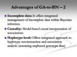 advantages of ga to bn 2