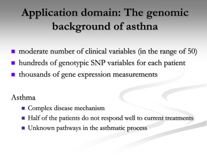 Application domain: The genomic background of asthna