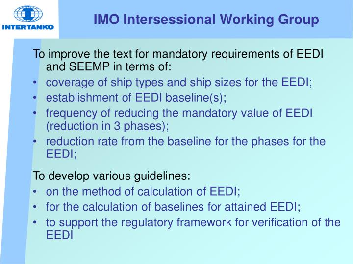 IMO Intersessional Working Group
