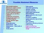 possible abatement measures