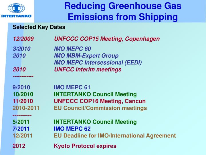 Reducing Greenhouse Gas Emissions from Shipping
