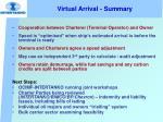 virtual arrival summary