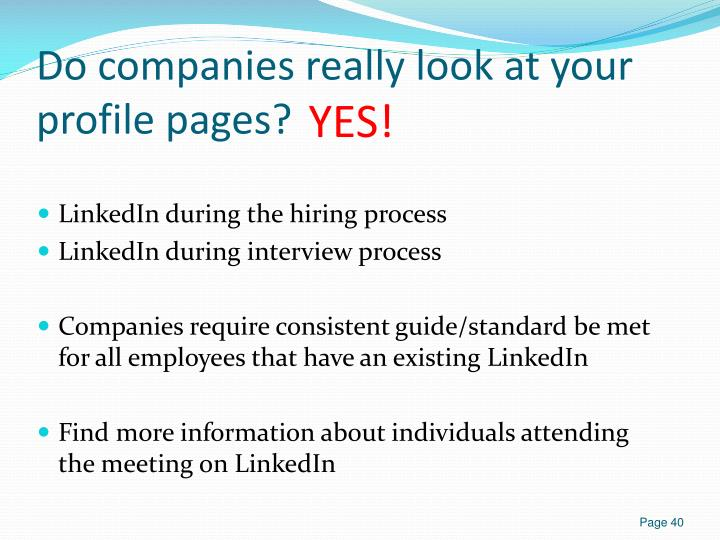 Do companies really look at your profile pages?