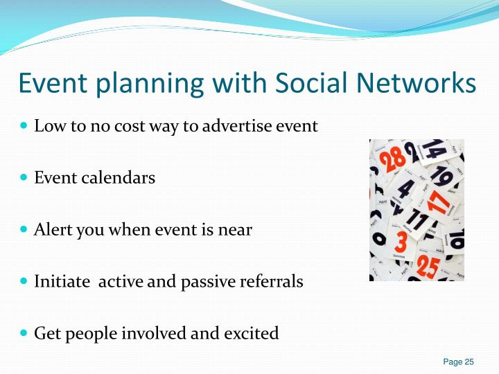 Event planning with Social Networks