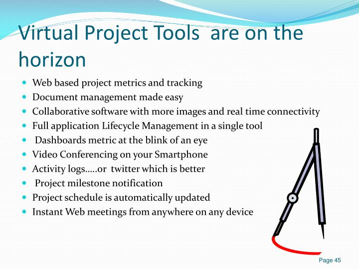 Virtual Project Tools  are on the horizon