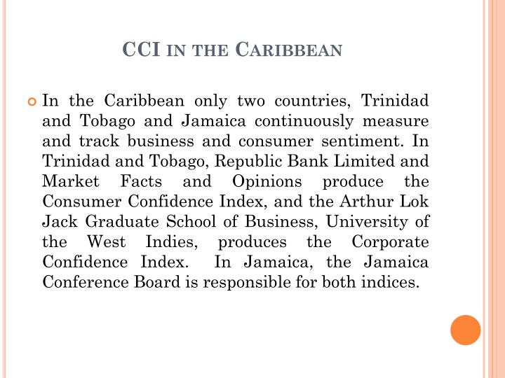 CCI in the Caribbean