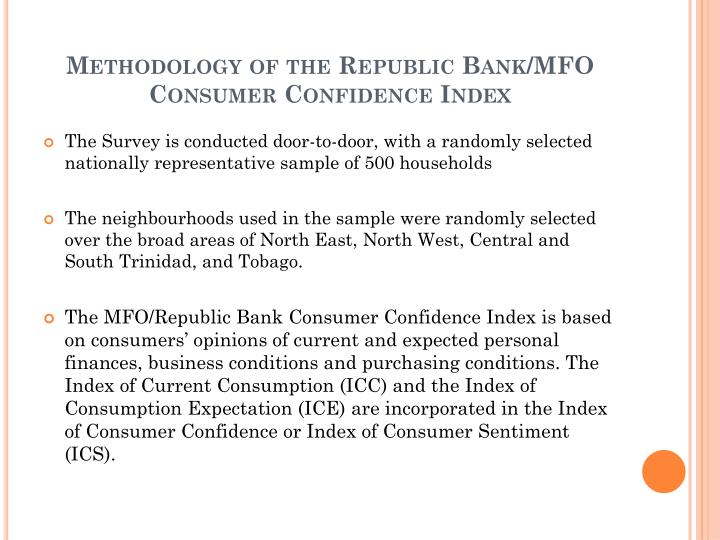Methodology of the Republic Bank/MFO Consumer Confidence Index