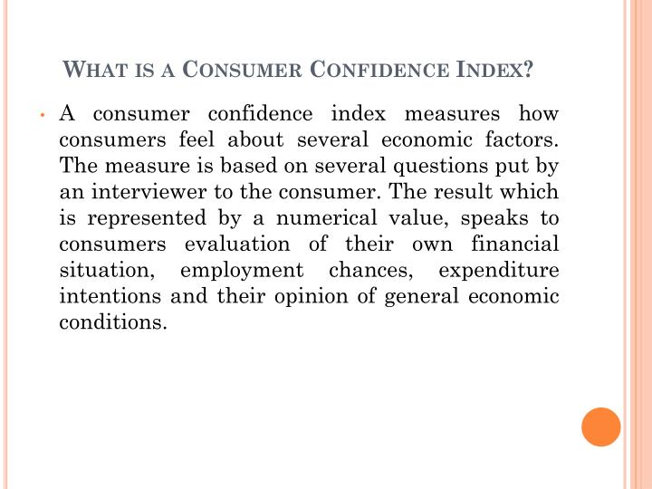 What is a consumer confidence index