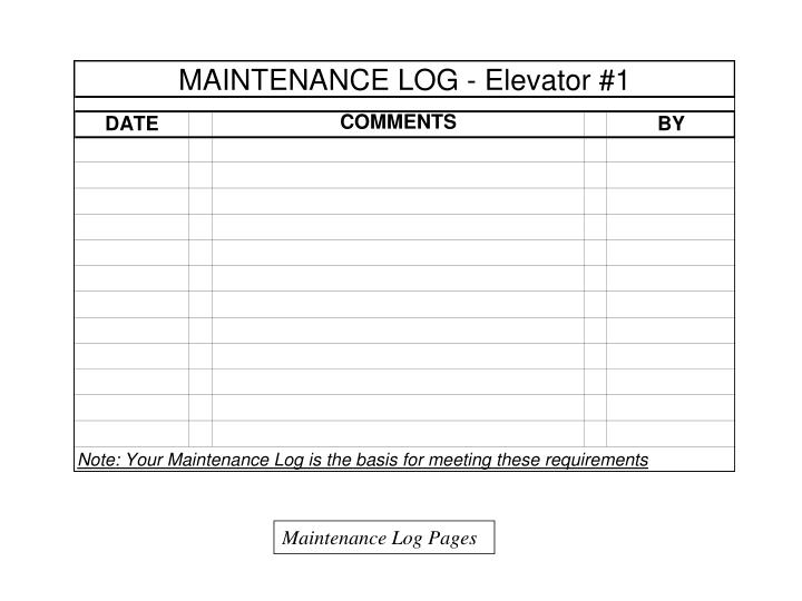 Maintenance Log Pages
