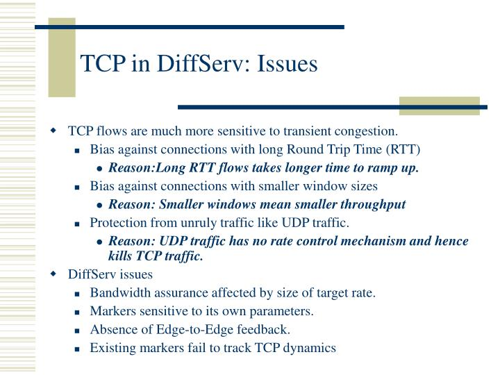 TCP in DiffServ: Issues