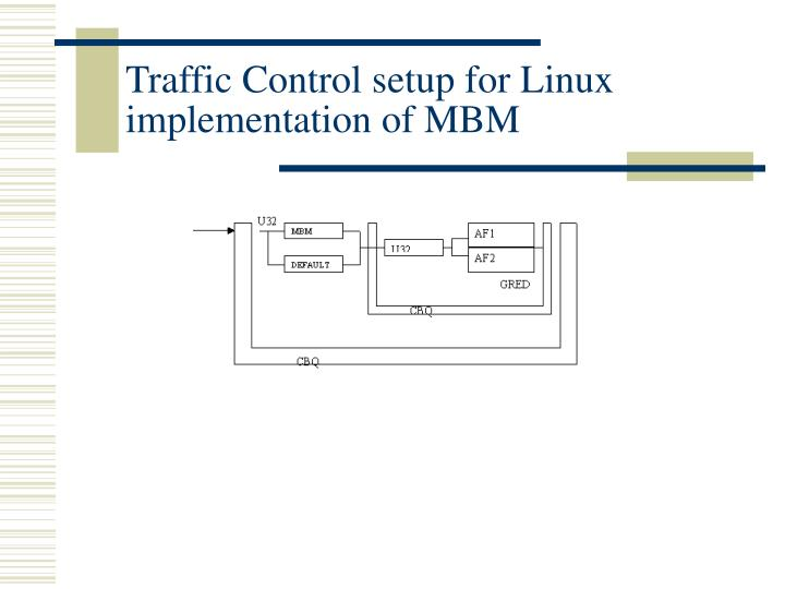 Traffic Control setup for Linux implementation of MBM