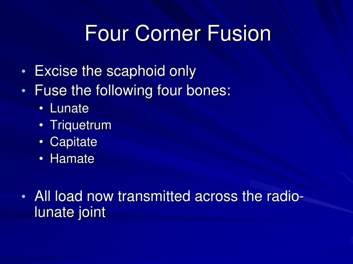 Four Corner Fusion