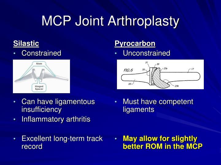MCP Joint Arthroplasty