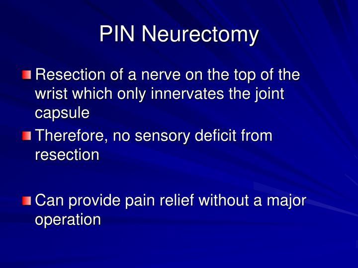 PIN Neurectomy