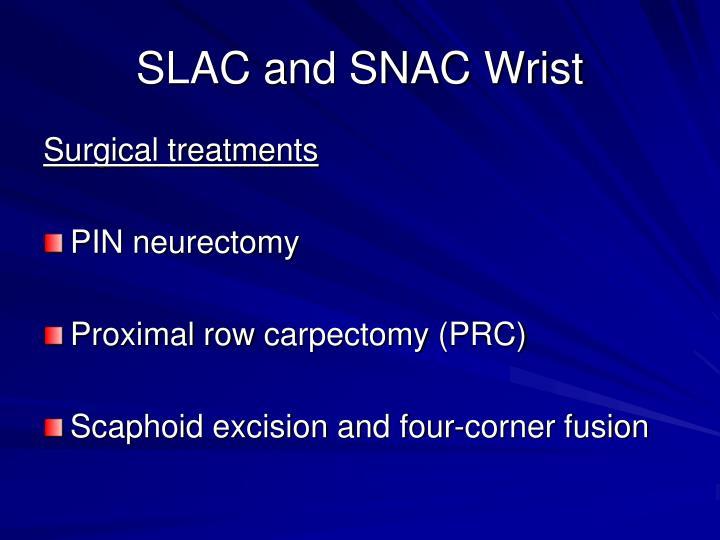 SLAC and SNAC Wrist