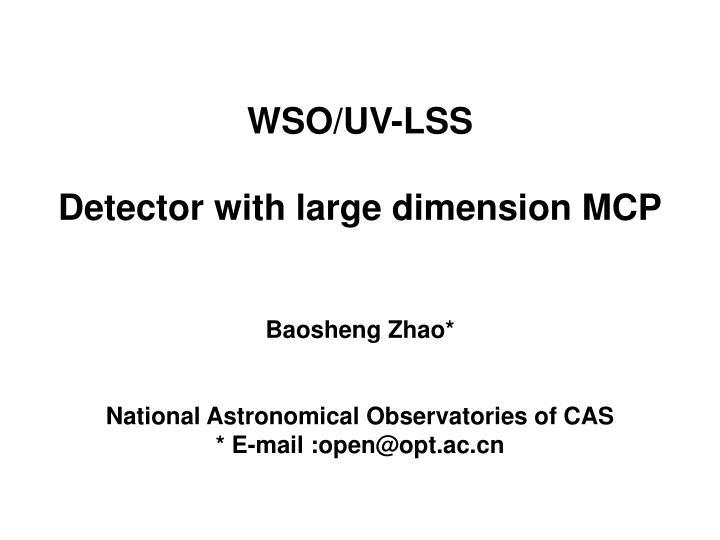 WSO/UV-LSS