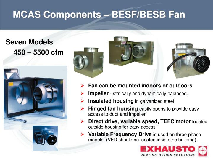 MCAS Components – BESF/BESB Fan