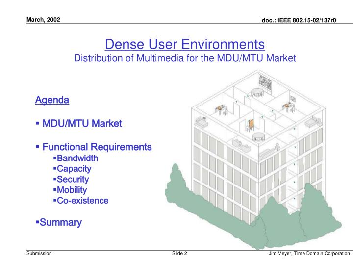 Dense User Environments