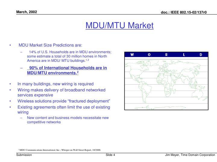 MDU/MTU Market