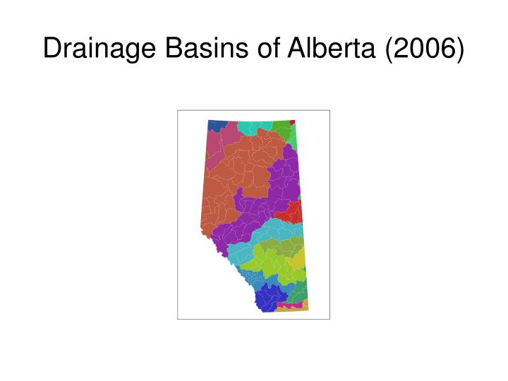 Drainage Basins of Alberta (2006)