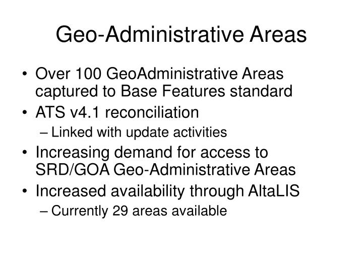 Geo-Administrative Areas