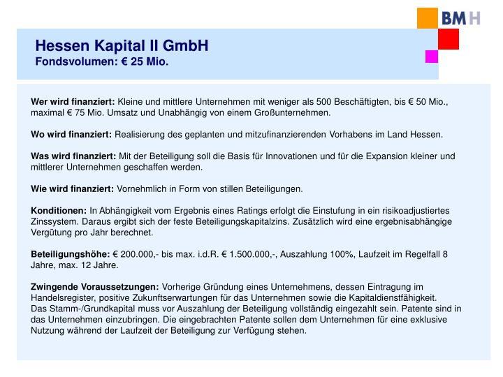 Hessen Kapital II GmbH