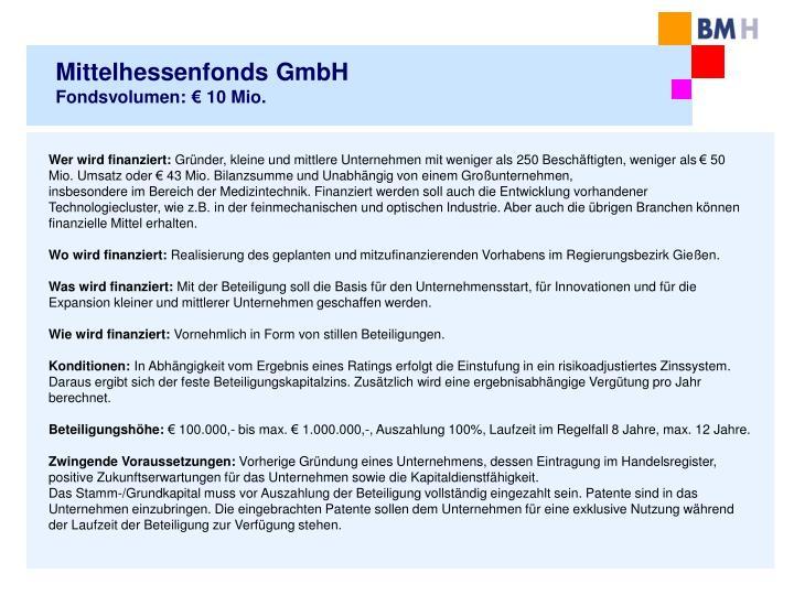 Mittelhessenfonds GmbH
