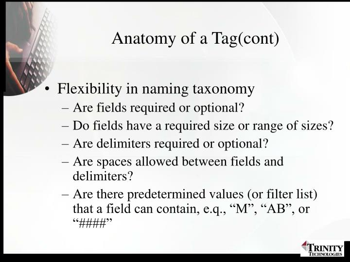 Anatomy of a Tag(cont)