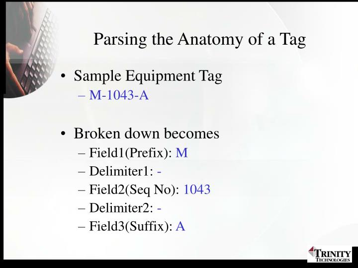 Parsing the Anatomy of a Tag