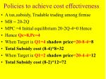 policies to achieve cost effectiveness