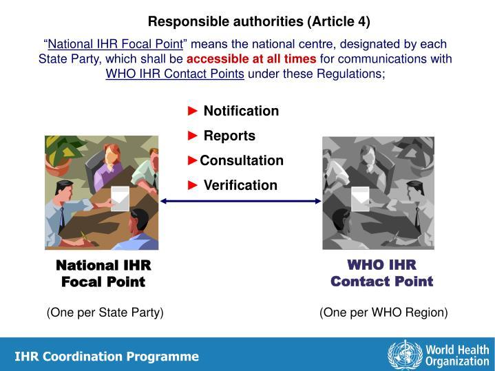 Responsible authorities (Article 4)