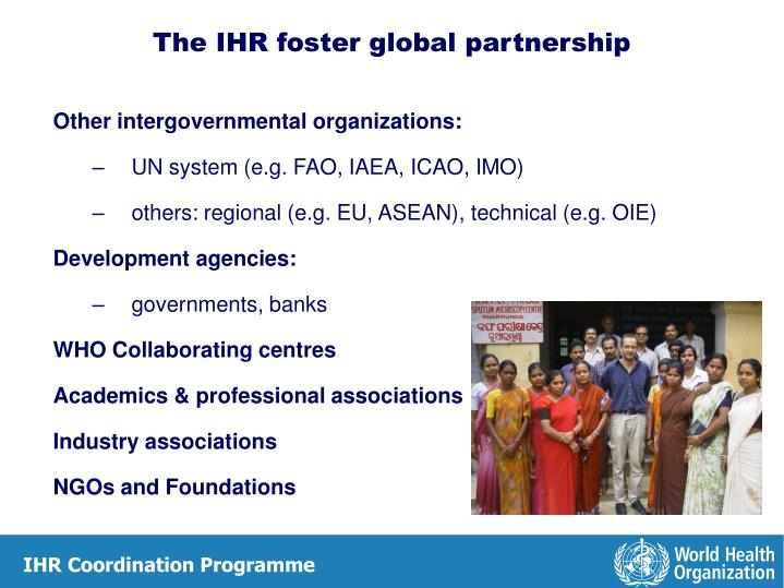 Other intergovernmental organizations: