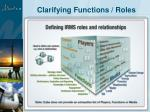 clarifying functions roles