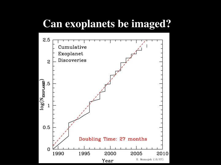Can exoplanets be imaged?